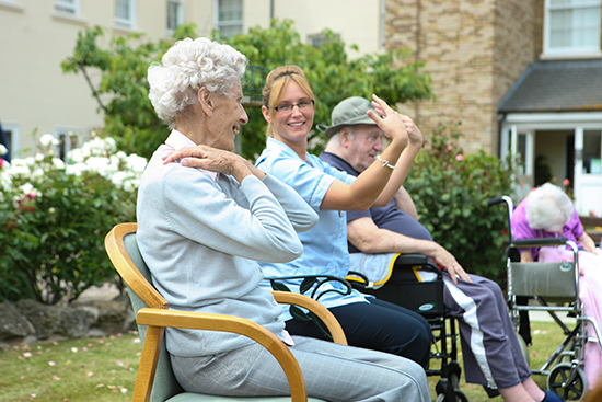 Residents Enjoying Activities at St Peter's
