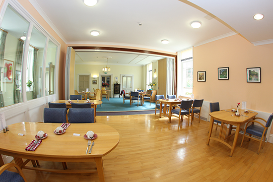 Dining Room at St Peter's Care Home